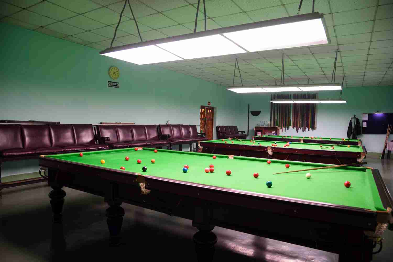 Snooker and billiards room
